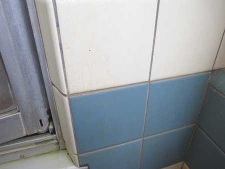 汚い 浴室 タイル