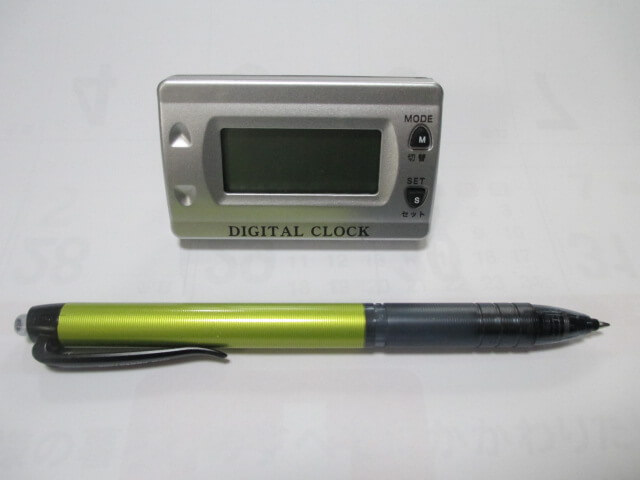 デジタル時計(CLEAR VISIBLE DIGITAL CLOCK)D106