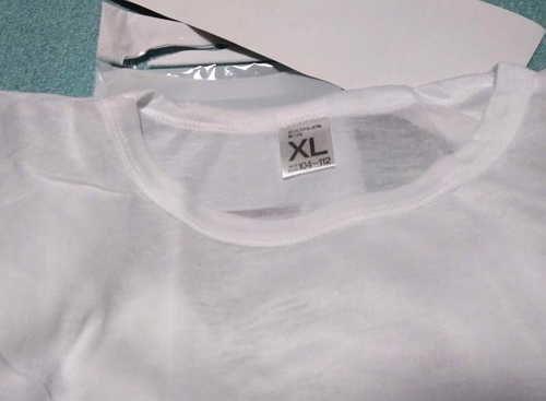 100均の丸首Tシャツはゴワゴワの肌触りでイマイチでしたよ